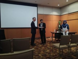 Token of Appreciation Delivery by Assoc. Prof. Ir. Dr. Rosdiazli Ibrahim