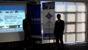 Maiyaki Abdullahi Alkali together with Muhammad Jalal making presentations at UKM Danua Golf club Hall